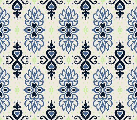 Talavera pattern. Azulejos portugal. Turkish ornament. Moroccan tile mosaic. Spanish porcelain. Ceramic tableware, folk print. Asian pottery. Ethnic background. Mediterranean wallpaper. Art Deco. Çizim