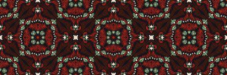 Bandana print. Women's shawl with floral pattern. Mediterranean wallpaper. Portuguese tile azulejo. Turkish ornament. Spanish porcelain. Ceramic dishes. Stockfoto - 130684953