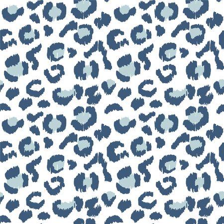 Pelle di leopardo. Impronta animale. Texture con effetto lamina. Ikat ornamento folklore geometrico. Reticolo senza giunte. Struttura etnica tribale. Vettoriali