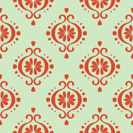 Ikat geometric folklore ornament. Oriental vector damask pattern. Ancient art of Arabesque. Tribal ethnic texture. Spanish motif on the carpet. Aztec style. Indian rug. Gypsy, Mexican embroidery.O Illustration