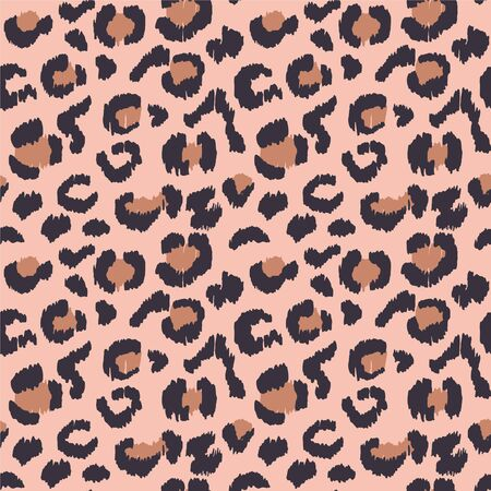 Leopard skin. Animal print. Texture with foil effect. Ikat geometric folklore ornament. Vector seamless pattern. Tribal ethnic texture.