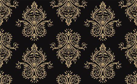 Oriental vector damask pattern. Talavera pottery. Azulejos portugal. Turkish ornament. Spanish porcelain. Ceramic tableware, folk print. Ethnic background. Mediterranean wallpaper.  Talavera pottery. Banque d'images - 131671623