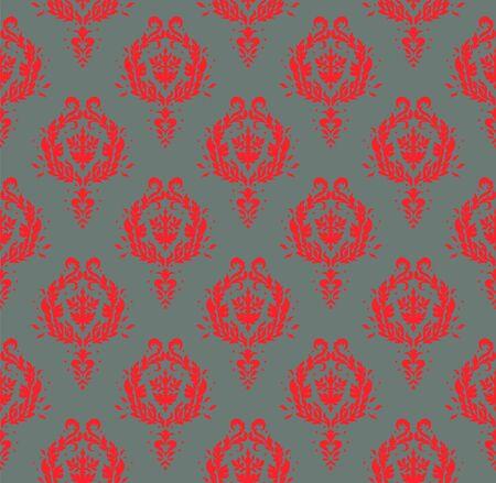 Oriental vector damask pattern. Talavera pottery. Azulejos portugal. Turkish ornament. Spanish porcelain. Ceramic tableware, folk print. Ethnic background. Mediterranean wallpaper.  Talavera pottery. Banque d'images - 131671781