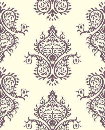 Oriental vector damask pattern. Talavera pottery. Azulejos portugal. Turkish ornament. Spanish porcelain. Ceramic tableware, folk print. Ethnic background. Mediterranean wallpaper.  Talavera pottery. Banque d'images - 131674120
