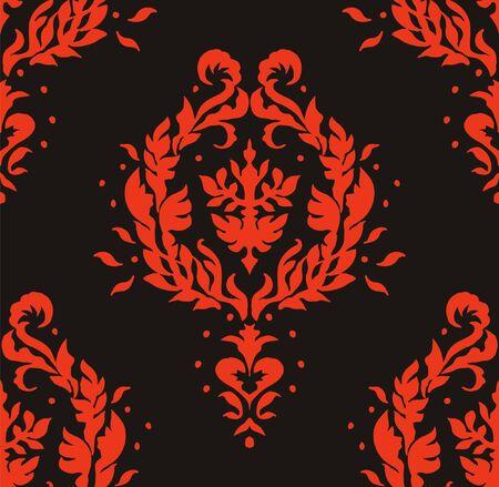 Oriental vector damask pattern. Talavera pottery. Azulejos portugal. Turkish ornament. Spanish porcelain. Ceramic tableware, folk print. Ethnic background. Mediterranean wallpaper.  Talavera pottery. Illusztráció