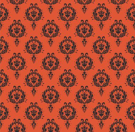 Oriental vector damask pattern. Talavera pottery. Azulejos portugal. Turkish ornament. Spanish porcelain. Ceramic tableware, folk print. Ethnic background. Mediterranean wallpaper.  Talavera pottery. Banque d'images - 131672994