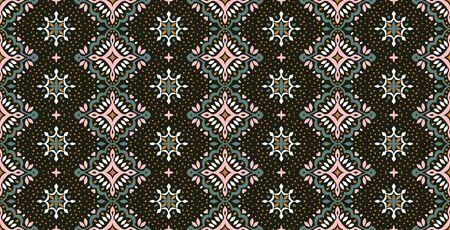 Oriental vector damask pattern. Talavera pottery. Azulejos portugal. Turkish ornament. Spanish porcelain. Ceramic tableware, folk print. Ethnic background. Mediterranean wallpaper.  Talavera pottery. Banque d'images - 131672998
