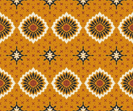 Talavera pattern. Azulejos portugal. Turkish ornament. Moroccan tile mosaic. Spanish porcelain. Ceramic tableware, folk print. Asian pottery. Ethnic background. Mediterranean wallpaper. Art Deco. Banque d'images - 131673090