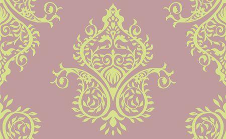 Oriental vector damask pattern. Talavera pottery. Azulejos portugal. Turkish ornament. Spanish porcelain. Ceramic tableware, folk print. Ethnic background. Mediterranean wallpaper. Talavera pottery.