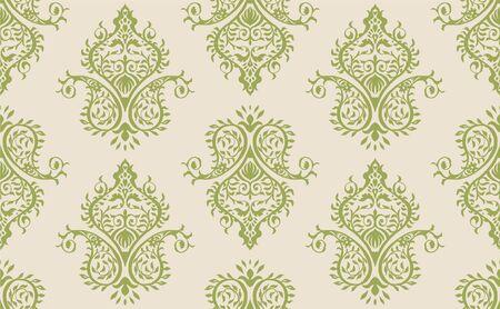 Oriental vector damask pattern. Talavera pottery. Azulejos portugal. Turkish ornament. Spanish porcelain. Ceramic tableware, folk print. Ethnic background. Mediterranean wallpaper.  Talavera pottery. Banque d'images - 131673536