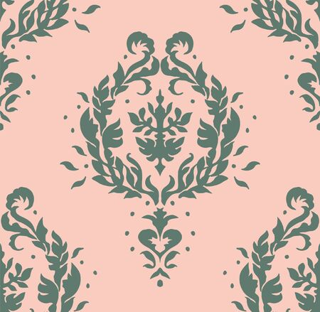 Oriental vector damask pattern. Talavera pottery. Azulejos portugal. Turkish ornament. Spanish porcelain. Ceramic tableware, folk print. Ethnic background. Mediterranean wallpaper.  Talavera pottery. Banque d'images - 131673543