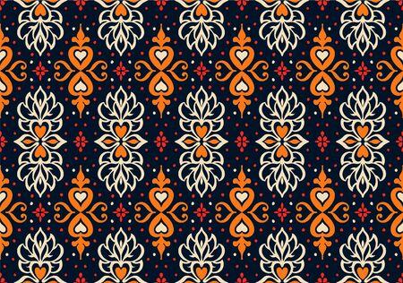 Talavera pattern. Azulejos portugal. Turkish ornament. Moroccan tile mosaic. Spanish porcelain. Ceramic tableware, folk print. Asian pottery. Ethnic background. Mediterranean wallpaper. Art Deco. 向量圖像