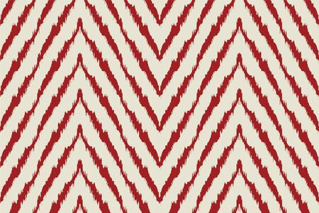 Diagonal ikat stripes. Zigzag pattern seamless. Geometric chevron abstract illustration, wallpaper. Tribal ethnic vector texture. Aztec style. Folk embroidery. Indian, Scandinavian,  African rug.