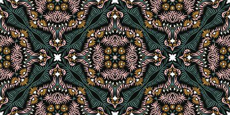 Bandana print. Womens shawl with floral pattern. Mediterranean wallpaper. Portuguese tile azulejo. Turkish ornament. Spanish porcelain. Ceramic dishes.