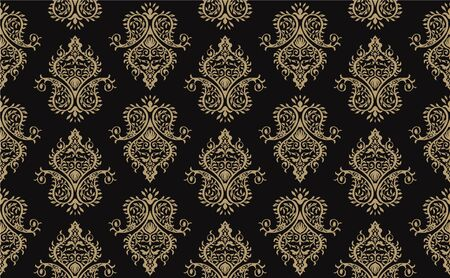 Oriental vector damask pattern. Talavera pottery. Azulejos portugal. Turkish ornament. Spanish porcelain. Ceramic tableware, folk print. Ethnic background. Mediterranean wallpaper.  Talavera pottery. Ilustrace