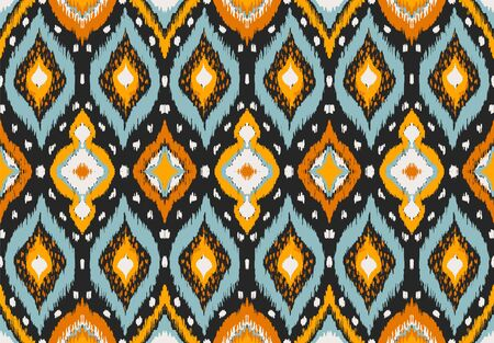 Ikat geometric folklore ornament with diamonds. Tribal ethnic vector texture. Seamless striped pattern in Aztec style. Folk embroidery. Indian, Scandinavian, Gypsy, Mexican, African rug. Stock fotó - 133503476