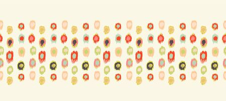 Polka Dot Pattern. Ikat geometric folklore ornament. Memphis vintage, retro style. Children, kids sketch drawing. Stok Fotoğraf - 133466034