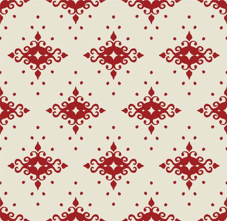 Oriental vector damask pattern. Talavera pottery. Azulejos portugal. Turkish ornament. Spanish porcelain. Ceramic tableware, folk print. Ethnic background. Mediterranean wallpaper.  Talavera pottery. Stock fotó - 133507777