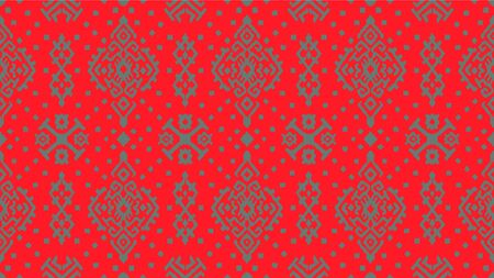 Ikat geometric folklore ornament. Oriental vector damask pattern. Ancient art of Arabesque. Tribal ethnic texture. Spanish motif on the carpet. Aztec style. Indian rug. Gypsy, Mexican embroidery. Illusztráció