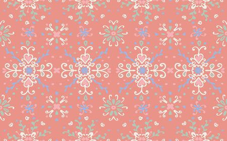 Seamless floral pattern folk colorful flowers and leaves. Flower embroidery. Talavera pattern. Indian patchwork. Turkish ornament. Spanish ethnic background. Mediterranean seamless wallpaper. Standard-Bild - 133679087