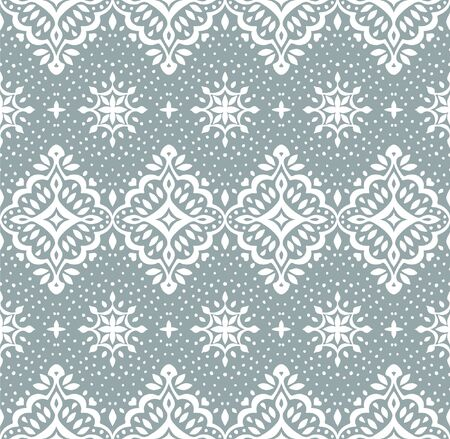 Oriental vector damask pattern. Talavera pottery. Azulejos portugal. Turkish ornament. Spanish porcelain. Ceramic tableware, folk print. Ethnic background. Mediterranean wallpaper.  Talavera pottery. Иллюстрация