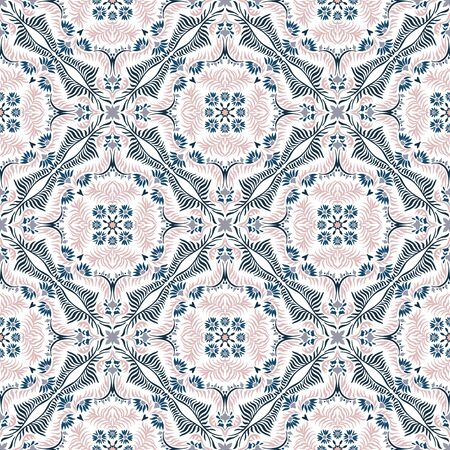 Bandana print. Women's shawl with floral pattern. Mediterranean wallpaper. 向量圖像