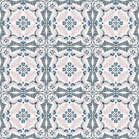 Bandana print. Womens shawl with floral pattern. Mediterranean wallpaper. Illusztráció