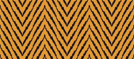 Diagonal ikat stripes. Zigzag pattern seamless. Geometric chevron abstract illustration, wallpaper. Tribal ethnic vector texture. Aztec style. Folk embroidery. Indian, Scandinavian,  African rug.
