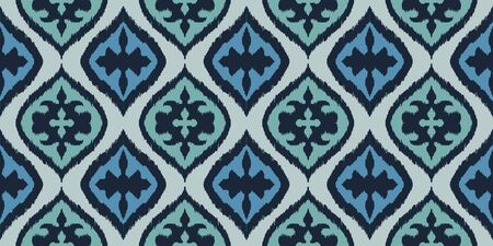 Ikat border. Geometric folk ornament. Tribal vector texture. Seamless striped pattern in Aztec style. Ethnic embroidery. Indian, Scandinavian, Gypsy, Mexican, African rug. 스톡 콘텐츠 - 137747474