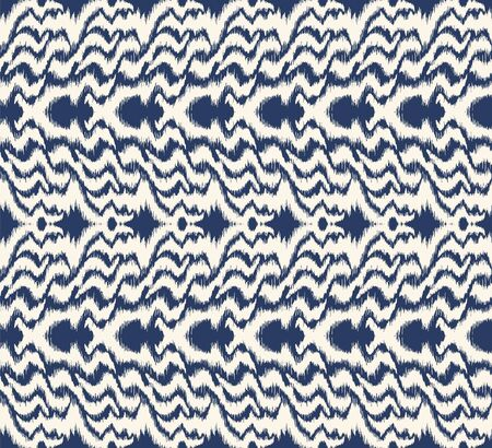 Ikat border. Geometric folk ornament. Tribal vector texture. Seamless striped pattern in Aztec style. Ethnic embroidery. Indian, Scandinavian, Gypsy, Mexican, African rug. 스톡 콘텐츠 - 137747478