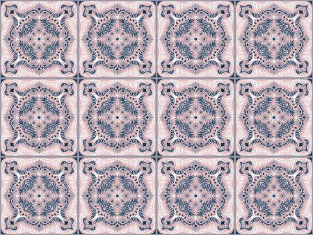 Bandana print. Womens shawl with floral pattern. Mediterranean wallpaper. 일러스트