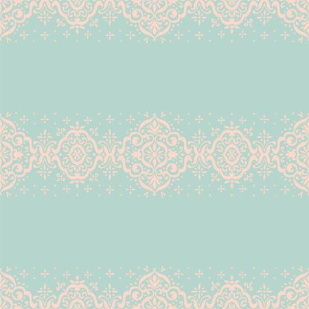 Ikat seamless pattern. Border with snowflakes. Openwork lace. New year Christmas background. Vector tie dye shibori print with stripes and chevron. Ink textured japanese background. Bohemian fashion. 스톡 콘텐츠 - 137747482