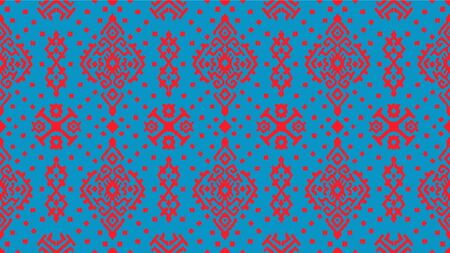 Ikat geometric folklore ornament. Oriental vector damask pattern. Ancient art of Arabesque. Tribal ethnic texture. Spanish motif on the carpet. Aztec style. Indian rug. Gypsy, Mexican embroidery. 스톡 콘텐츠 - 137747483