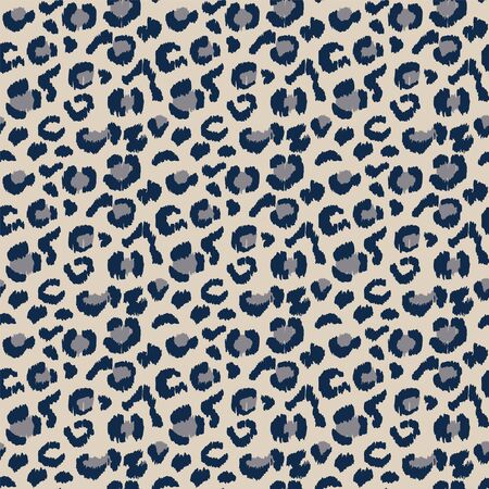 Leopard skin. Animal print. Texture with foil effect. Ikat geometric folklore ornament. Vector seamless pattern. Tribal ethnic texture. Vektorové ilustrace