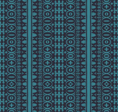 Seamless African pattern. Ethnic carpet with chevrons. Tribal vector ornament. Aztec style. Geometric mosaic on the tile, majolica. Ancient interior. Modern rug. Geo print on textile. Kente Cloth.