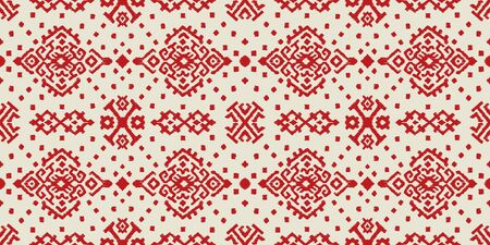 Ikat geometric folklore ornament. Oriental vector damask pattern. Ancient art of Arabesque. Tribal ethnic texture. Spanish motif on the carpet. Aztec style. Indian rug. Gypsy, Mexican embroidery.O Ilustración de vector