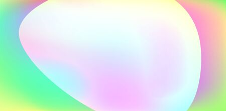 Holographic Vector Background. Iridescent Foil. Glitch Hologram. Pastel neon rainbow. Ultraviolet metallic paper. Template for presentation. Cover to web design. Abstract colorful gradient. 일러스트