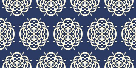 Oriental vector damask pattern. Talavera pottery. Azulejos portugal. Turkish ornament. Spanish porcelain. Ceramic tableware, folk print. Ethnic background. Mediterranean wallpaper.  Talavera pottery. Illustration