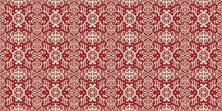 Ikat geometric folklore ornament. Oriental vector damask pattern. Ancient art of Arabesque. Tribal ethnic texture. Spanish motif on the carpet. Aztec style. Indian rug. Gypsy, Mexican embroidery. Foto de archivo - 148805377
