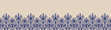 Ikat geometric folklore ornament. Oriental vector damask pattern. Ancient art of Arabesque. Tribal ethnic texture. Spanish motif on the carpet. Aztec style. Indian rug. Gypsy, Mexican embroidery. Foto de archivo - 148954262