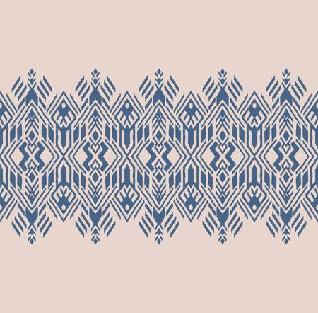 Ikat geometric folklore ornament. Oriental vector damask pattern. Ancient art of Arabesque. Tribal ethnic texture. Spanish motif on the carpet. Aztec style. Indian rug. Gypsy, Mexican embroidery. Foto de archivo - 148954449