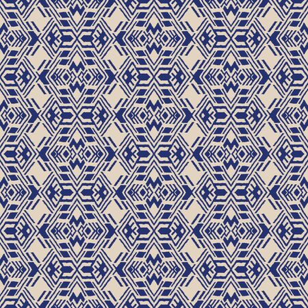 Ikat geometric folklore ornament. Oriental vector damask pattern. Ancient art of Arabesque. Tribal ethnic texture. Spanish motif on the carpet. Aztec style. Indian rug. Gypsy, Mexican embroidery. Foto de archivo - 148954784