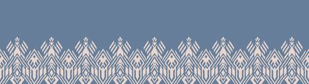 Ikat geometric folklore ornament. Oriental vector damask pattern. Ancient art of Arabesque. Tribal ethnic texture. Spanish motif on the carpet. Aztec style. Indian rug. Gypsy, Mexican embroidery. Foto de archivo - 148954842
