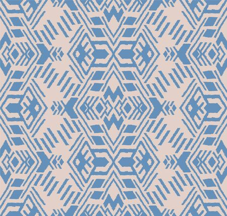Ikat geometric folklore ornament. Oriental vector damask pattern. Ancient art of Arabesque. Tribal ethnic texture. Spanish motif on the carpet. Aztec style. Indian rug. Gypsy, Mexican embroidery. Foto de archivo - 148954860