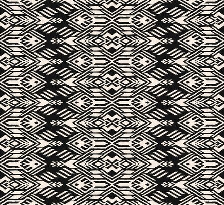 Ikat geometric folklore ornament. Oriental vector damask pattern. Ancient art of Arabesque. Tribal ethnic texture. Spanish motif on the carpet. Aztec style. Indian rug. Gypsy, Mexican embroidery. Foto de archivo - 148954873