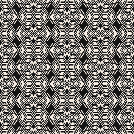 Ikat geometric folklore ornament. Oriental vector damask pattern. Ancient art of Arabesque. Tribal ethnic texture. Spanish motif on the carpet. Aztec style. Indian rug. Gypsy, Mexican embroidery. Foto de archivo - 148954877