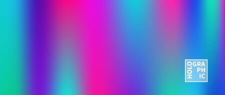 Holographic Vector Background. Iridescent Foil. Glitch Hologram. Pastel neon rainbow. Ultraviolet metallic paper. Template for presentation. Cover to web design. Abstract colorful gradient. Vektorové ilustrace