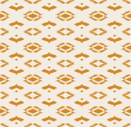 Ikat geometric folklore ornament with diamonds. Tribal ethnic vector texture. Seamless striped pattern in Aztec style. Folk embroidery. Indian, Scandinavian, Gypsy, Mexican, African rug. Фото со стока - 150479232