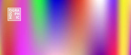 Holographic Vector Background. Iridescent Foil. Glitch Hologram. Pastel neon rainbow. Ultraviolet metallic paper. Template for presentation. Cover to web design. Abstract colorful gradient. 矢量图像