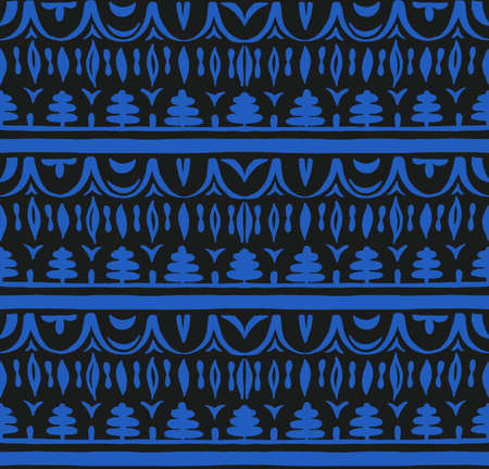 Seamless African pattern. Ethnic carpet with chevrons. Tribal vector ornament. 스톡 콘텐츠 - 151101596